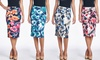 Women's Body Shaping Printed Pencil Skirt