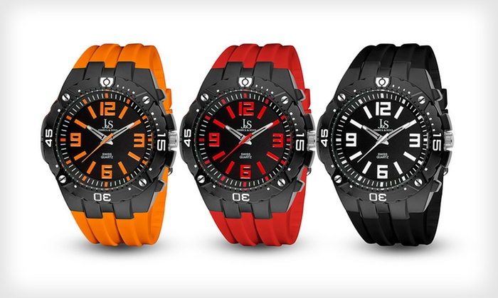 Joshua & Sons Swiss Sport Quartz Watches: Joshua & Sons Men's Swiss Sport Quartz Watch (Up to 90% Off). 14 Styles Available. Free Shipping and Free Returns.