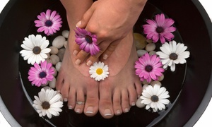 The Looking Glass Nails, Salon and Massage: $16 for $26 Worth of Pedicures — The Looking Glass Nails, Salon and Massage