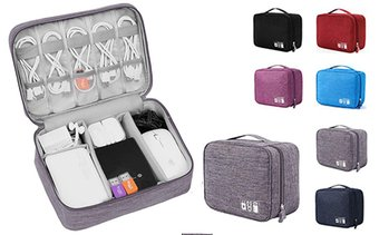 3D Luxe Custom Multi-Compartment Electronic Accessories Travel Bag