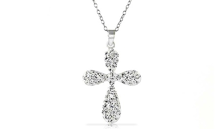 Crystal Cross Pendant with Swarovski Elements