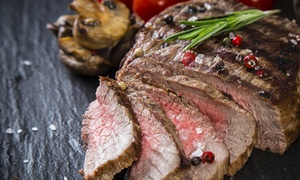 The Grand Steakhouse: Stone Grill Meal for Two ($35), Four ($69) Six ($99) or Eight People ($129) at The Grand Steakhouse (Up to $224 Value)