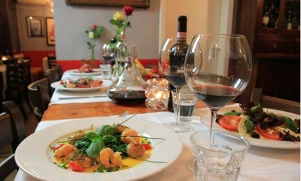 Viergangenmenu met amuse vooraf, naar keuze met wijnarrangement voor 2 tot 6 pers. bij Ristorante Pizzeria Da Italo