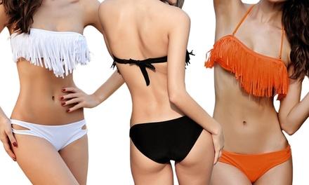 Women's Fringe Top Bikini