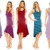 Striped High-Low Dress