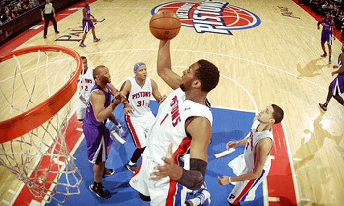 Detroit Pistons - The Palace of Auburn Hills: Detroit Pistons NBA Game with Postgame Shot on February 6, 11, 19, or 25 at The Palace of Auburn Hills (Up to 60% Off)