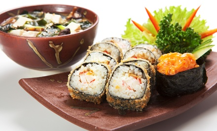 $25 for a Five-Course Sushi Dinner for Two at Kaz Japanese Restaurant (Up to 55% Off)