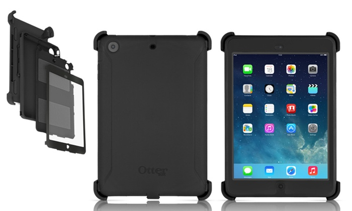 huge selection of 69b5e df4e5 OtterBox Defender Case with Built-In Screen Protector and Kickstand Shield  for Apple iPad mini 1/2/3
