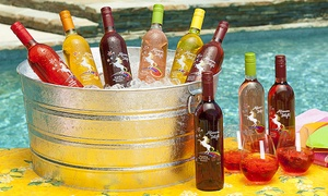Afternoon Delight: 6 or 12 Bottles of Fruit-Flavored Moscato with Two or Four govino Wine Glasses from Afternoon Delight (59% Off)