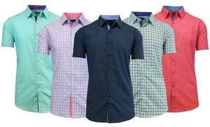 Men's Slim-Fit Short-Sleeve Button-Down Shirts | Groupon