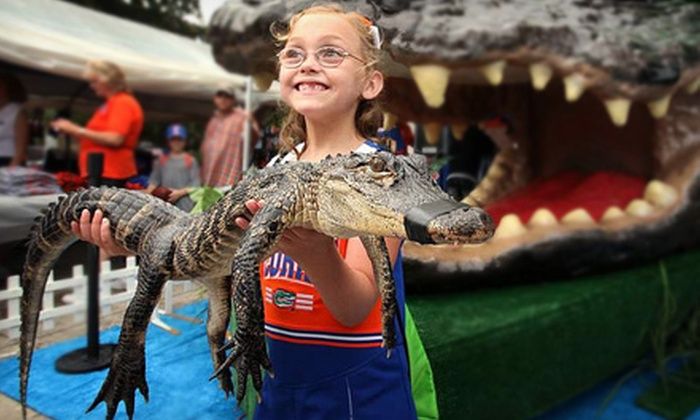 Gator Golf - Florida Center: Mini Golf and First-Hand Alligator Feeding with One Photo for a Child or an Adult at Gator Golf (Up to 54% Off)