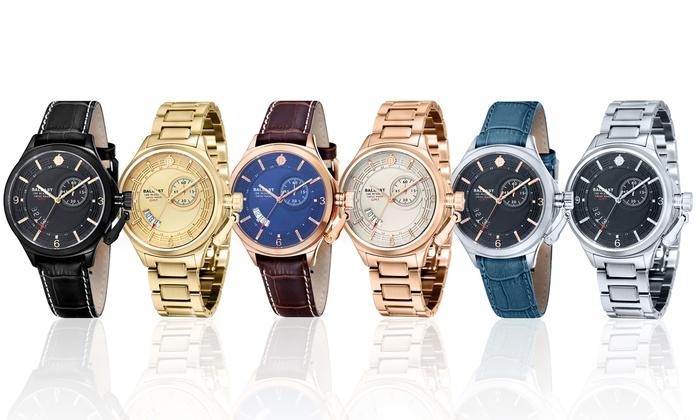 Ballast Trafalgar Men's GMT Swiss Dress Watch: Ballast Trafalgar Men's GMT Swiss Dress Watch