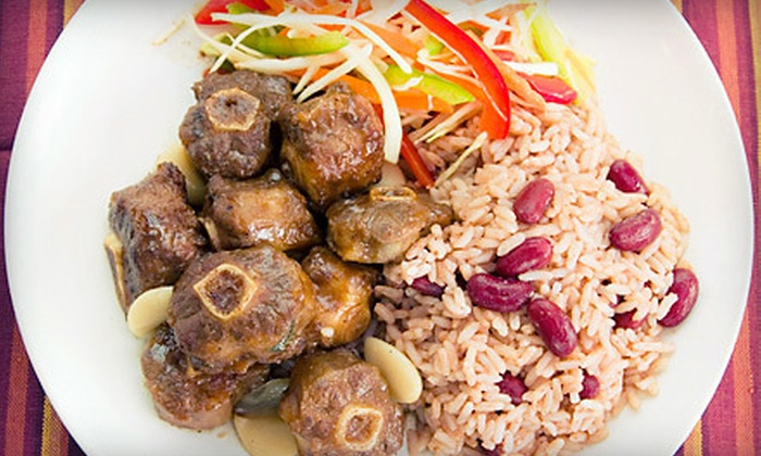 Hibiscus Caribbean Bar & Grill - Brookside: Caribbean Food at Hibiscus Caribbean Bar & Grill (Half Off). Two Options Available.