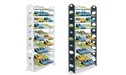 One or Two TenTier Shoe Racks in White or Black
