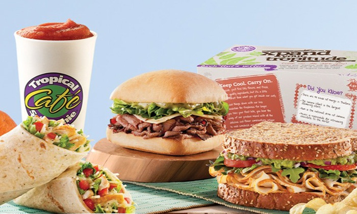 Tropical Smoothie Café - Parshallville: Four or Six Groupons, Each Good for $6 Worth of American Food and Smoothies at Tropical Smoothie Cafe (Half Off)