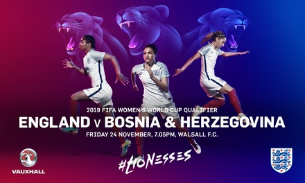 England Women v Bosnia & Herzegovina, Child, Adult or Family Ticket at Banks's Stadium, 24 November (Up to 18% Off*)