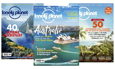 5 of 10 nummers Lonely Planet Magazine, je abonnement stopt automatisch