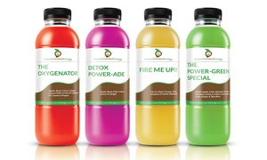 Organic Certified Greens: 3- or 5-Day Juice Cleanse, or Organic Foods at Organic Certified Greens (Up to 58% Off). 5 Options Available.