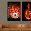 """30""""x20"""" Music On Fire Gallery-Wrapped Canvas Prints"""