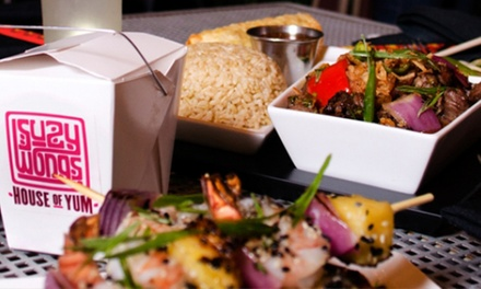 Asian-Fusion Cuisine at Suzy Wong's House of Yum (Up to 40% Off). Two Options Available.