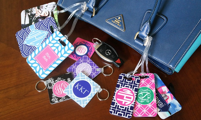 Personalized Keychains or Luggage Tags from Paper Concierge (Up to 67% Off). Six Options Available.