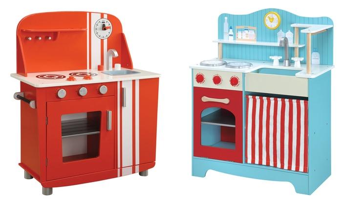 Pretend play kitchen sets groupon goods for Kitchen set 008 58