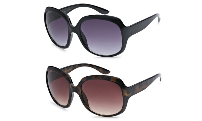 Designer Inspired Women's Oversized Sunglasses (2-Pack)