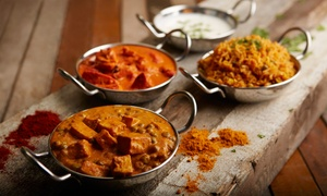 Darbar Indian Restaurant: Indian Dinner Cuisine for Two or Four at Darbar Indian Restaurant (47% Off)
