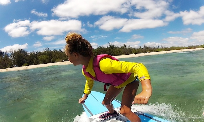 Reeled In Surf - Kapolei: Surfing Lessons for Two or Three at Reeled In Surf (Up to 52% Off). Two Options Available.