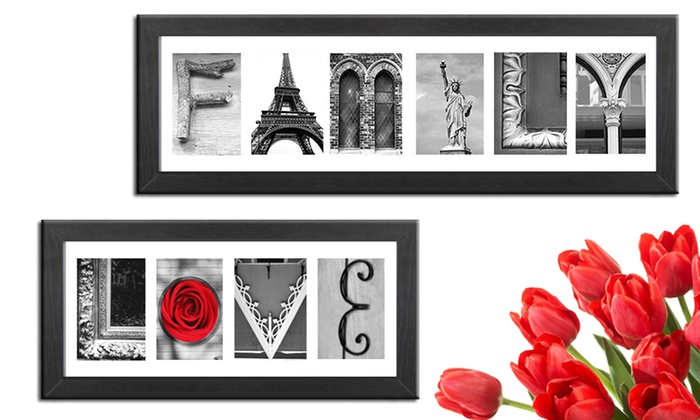 Imagine letters custom letter art and the word quotlove for Custom letter art groupon