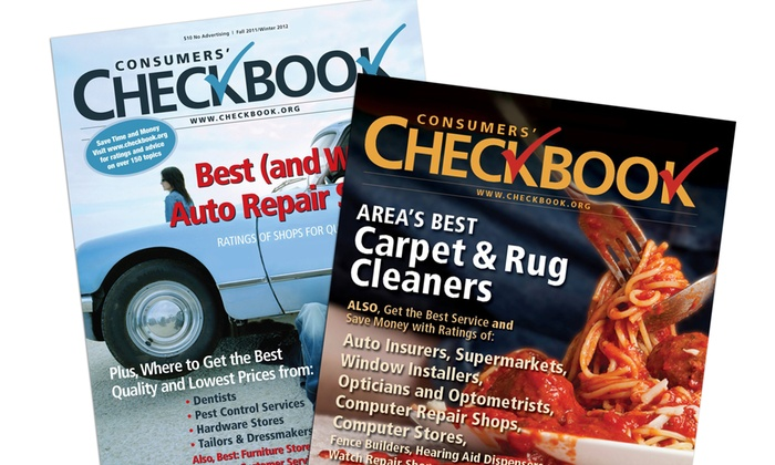 Consumers' CHECKBOOK: $15 for a Two-Year Subscription with Online Access to Consumers' Checkbook ($34 Value)