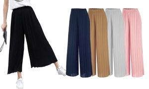 Pantalon large fluide et plissé
