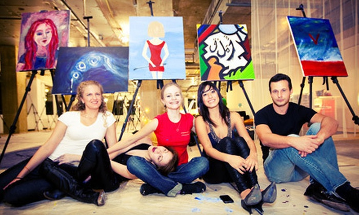 ArtJamz - Dupont Circle Studio: $20 Toward Studio Time, Canvas, and Beverages
