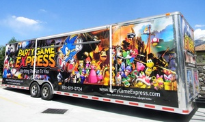 Party Game Express: Mobile Video Game Theater Party for Up to 24 at Party Game Express (Up to 41% Off). Two Options Available.