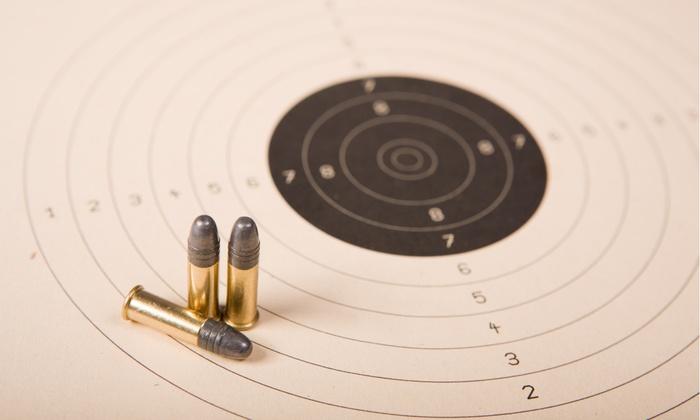 Family Indoor Shooting Range - Raymond Park: Shooting-Range Passes and Optional Gun Rentals or Membership atFamily Indoor Shooting Range(Up to 67% Off)