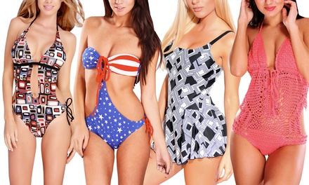 Women's Swimwear in Regular and Plus Sizes from $32.99–$34.99
