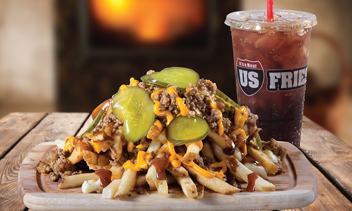 US Fries- Tempe - Downtown Tempe: $12 for $20 Worth of Poutine, Burgers, and More at US Fries