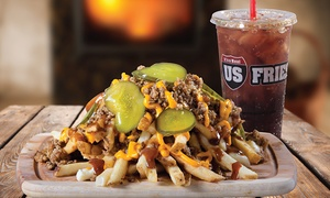 US Fries: $12 for $20 Worth of Poutine, Burgers, and Other Food at US Fries