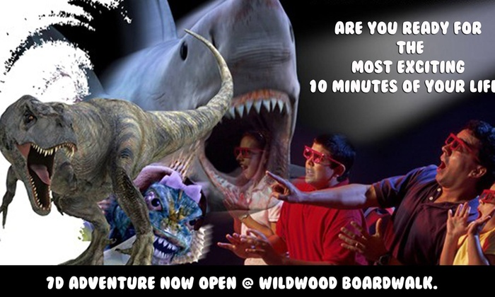 7D Adventures - Wildwood: Admission for 4 people at 7D Adventure (57% Off)