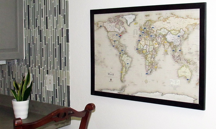 World Magnetic Pin Travel Maps – Magnetic Travel Map