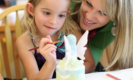 $10 for Five Custom Ceramic-Painting Sessions at Color Me Mine ($50 Value)