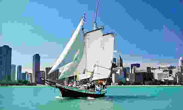 Tall Ship Red Witch, LLC - Burnham Harbor - J Dock: $35 for a Two-Hour Cocktail Skyline Sail from Tall Ship Red Witch, LLC ($70 Value)