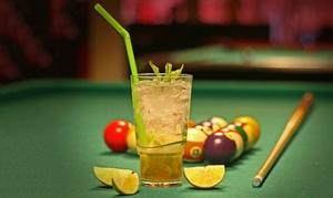 La Bowla: 1 Std. Billard inkl. Cocktail nach Wahl, opt. mit Fingerfood nach Wahl, für Zwei bei La Bowla (bis zu 55% sparen*)