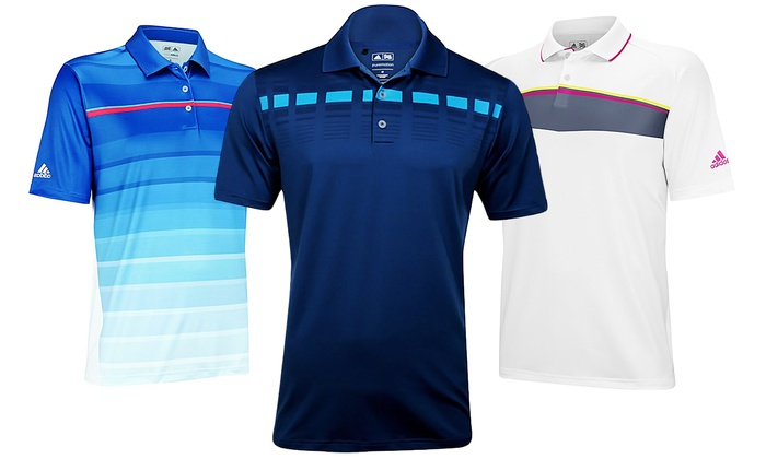 Adidas moisture wicking polos groupon goods for Moisture wicking golf shirts