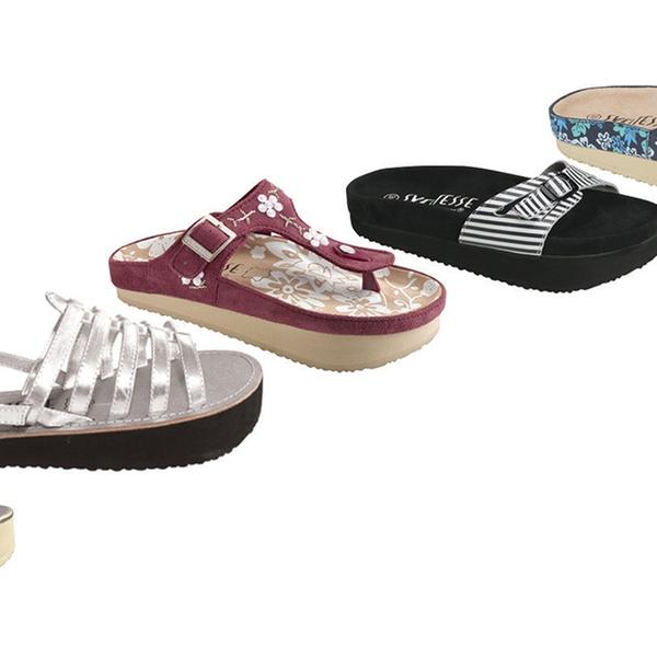 Sandales et tongs minceur tonifiantes Sveltesse taille et modèle au choix à 19,99€ (50% de réduction)