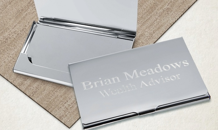Monogram Online: $19.99 for a Personalized Business-Card Case from Monogram Online ($49.99 Value)