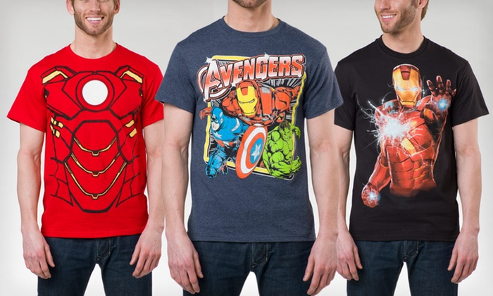 Marvel Superhero Men's T-shirts: $11.99 for a Marvel Iron Man or Avengers Men's T-shirt ($20 List Price). 6 Styles Available. Free Returns.