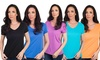 Women's Cotton V-Neck Shirts (6-Pack)