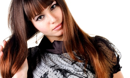Haircut, Style, and Conditioning with Optional Color or Highlights at Simply Stunning Hair Salon (Up to 60% Off)