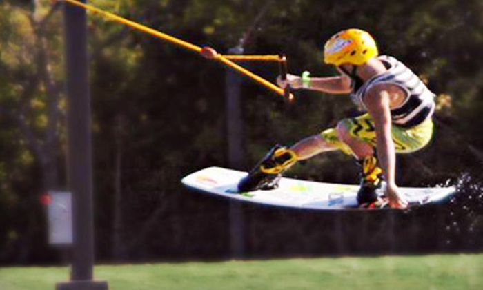 Hydrous Wake Park - Allen Station: Wakeboarding-Park Package for Two Monday–Friday or Saturday and Sunday at Hydrous Wake Park in Allen (Up to 55% Off)